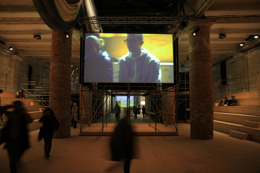 Installation in-situ, 7 video channels projected HD, performance 2h, 2014 14eme biennale d'architecture de Venise, we special. Curator : Rem Koolhaas Created by Gabriel Beck With Valentin Monge Production Manager : Achille Zoni